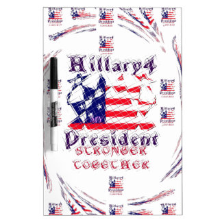 Beautiful Amazing Hillary USA Election Flag Color Dry-Erase Board