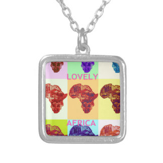Beautiful amazing Lovely Africa design Silver Plated Necklace
