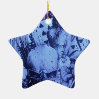 Beautiful amazing online Skeezers artistic product Double-Sided Star Ceramic Christmas Ornament