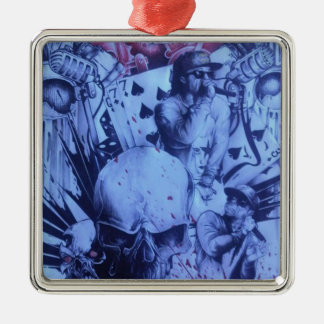 Beautiful amazing online Skeezers artistic product Silver-Colored Square Decoration
