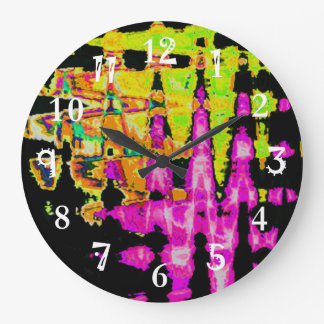 Beautiful Amazing  water colors pattern Large Clock