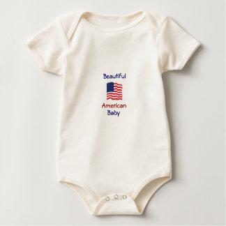 Beautiful American Baby Patriotic Snuggly Baby Bodysuit