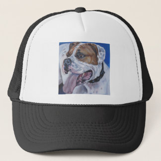 Beautiful american bulldog dog painting trucker hat