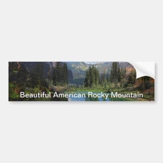 Beautiful American Rocky Mountain  Greeting Cards Car Bumper Sticker