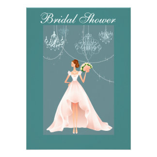 Beautiful and Blue Bridal Shower Invitation