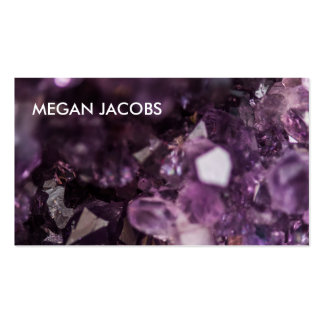 Beautiful and Bold Purple Crystal Geode Pack Of Standard Business Cards