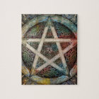 Beautiful And Colourful Pagan Pentacle Jigsaw Puzzle