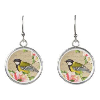 Beautiful and feminine vintage bird drop earrings