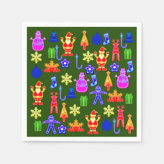 Beautiful and funny Colorful Gingerbread Napkin Disposable Serviette