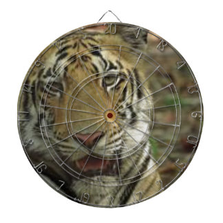 Beautiful and Smiling Tiger Dartboard