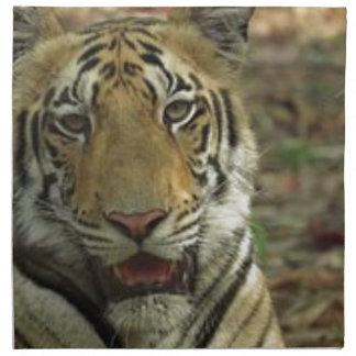 Beautiful and Smiling Tiger Napkin