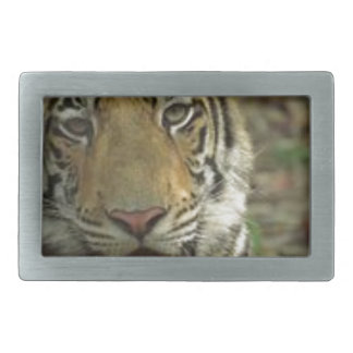 Beautiful and Smiling Tiger Rectangular Belt Buckles