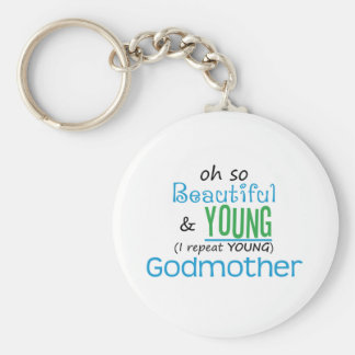 Beautiful and Young Godmother Keychains
