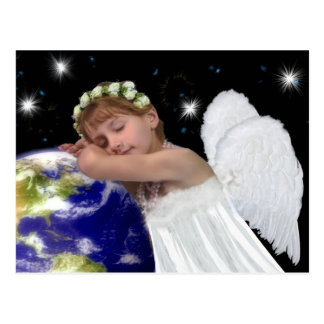 Beautiful Angel Christmas Post Card
