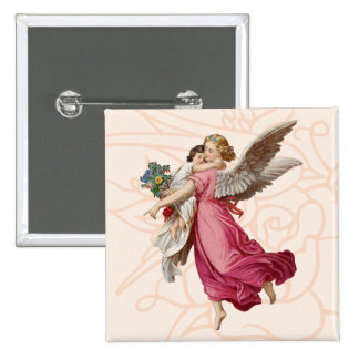 Beautiful Angel Cute Little Girl Pinback Button