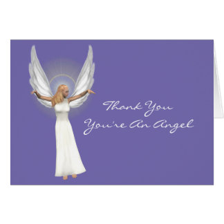 Beautiful Angel Thank You Note Card
