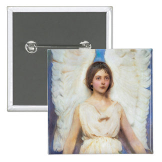 Beautiful Angel Vintage Button