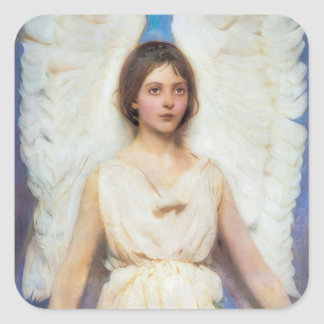 Beautiful Angel Vintage Square Sticker