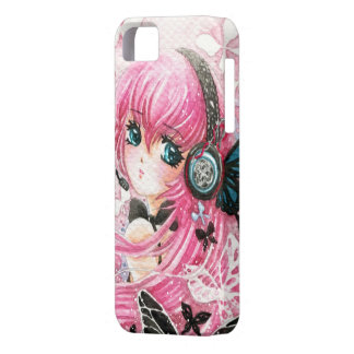 Beautiful anime girl with butterflies iPhone 5 cover
