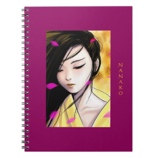 Beautiful Anime Princess Artwork Personalized Notebook