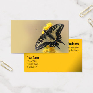 Beautiful Anise Swallowtail Butterfly in the Sun Business Card