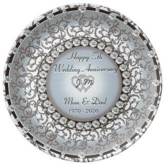 Beautiful Anniversary Gift Plate
