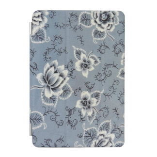 Beautiful Antique Colonial Blue Floral Pattern iPad Mini Cover