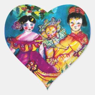 BEAUTIFUL ANTIQUE DOLLS, Heart Sticker