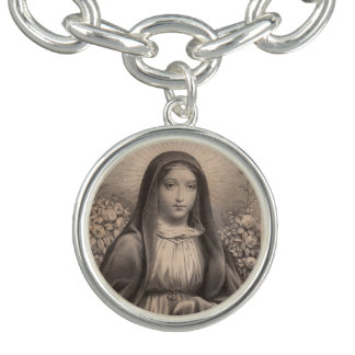 Beautiful Antique French Image of the Holy Virgin