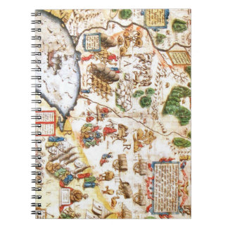 Beautiful Antique Map of Russia Notebooks