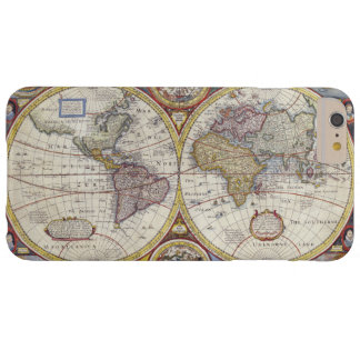 Beautiful Antique Vintage World Map Pattern Barely There iPhone 6 Plus Case