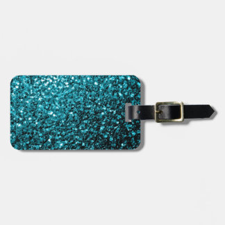 Beautiful Aqua blue glitter sparkles Luggage Tag
