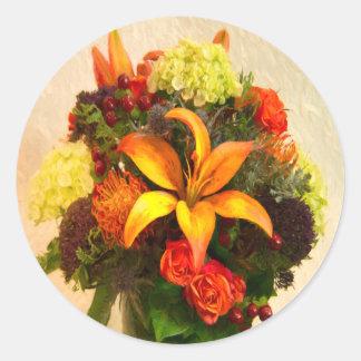 Beautiful Arrangement Of Autumn Flowers Sticker
