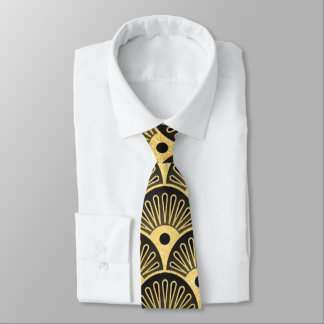 Beautiful art deco pattern mens tie