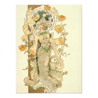 Beautiful Art Nouveau Girl Card