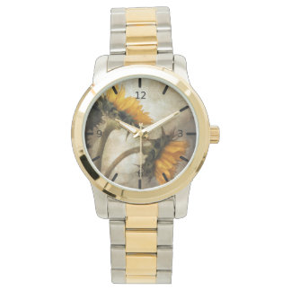 Beautiful Artistic Sunflowers Watch