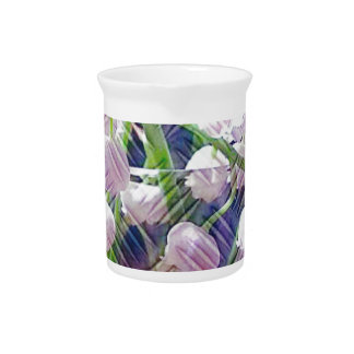 Beautiful Artistically Altered Lily of the Valley Drink Pitcher
