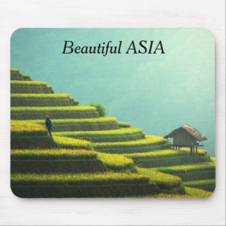 Beautiful Asia Postcard with your text Mouse Pad