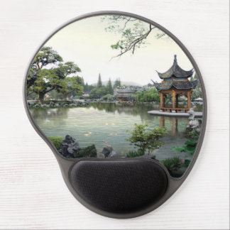 Beautiful Asian Architecture and landscape Gel Mouse Pad