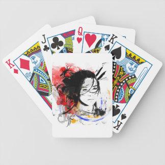 Beautiful Asian Girl Bicycle Playing Cards