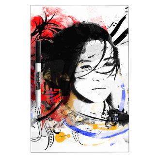 Beautiful Asian Girl Dry Erase White Board