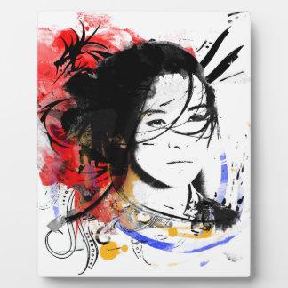 Beautiful Asian Girl Plaque