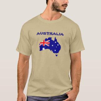 Beautiful Australia Map-Flag Shirt