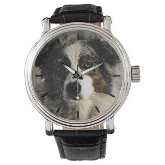 Beautiful Australian Shepard Custom Personalized Watch
