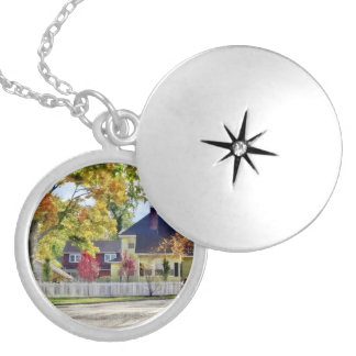 Beautiful Autumn Afternoon Silver Plated Necklace