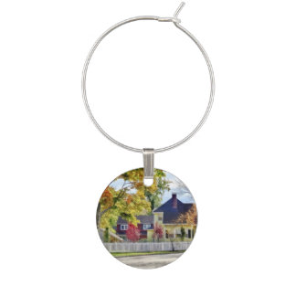 Beautiful Autumn Afternoon Wine Glass Charms