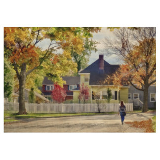 Beautiful Autumn Afternoon Wood Poster