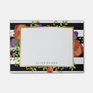 Beautiful Autumn Bouquet Custom Name Post-it Notes
