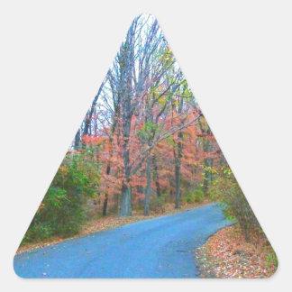 Beautiful Autumn Day Getaway Triangle Stickers