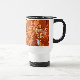 Beautiful Autumn Days Travel Coffe Mug Leaves